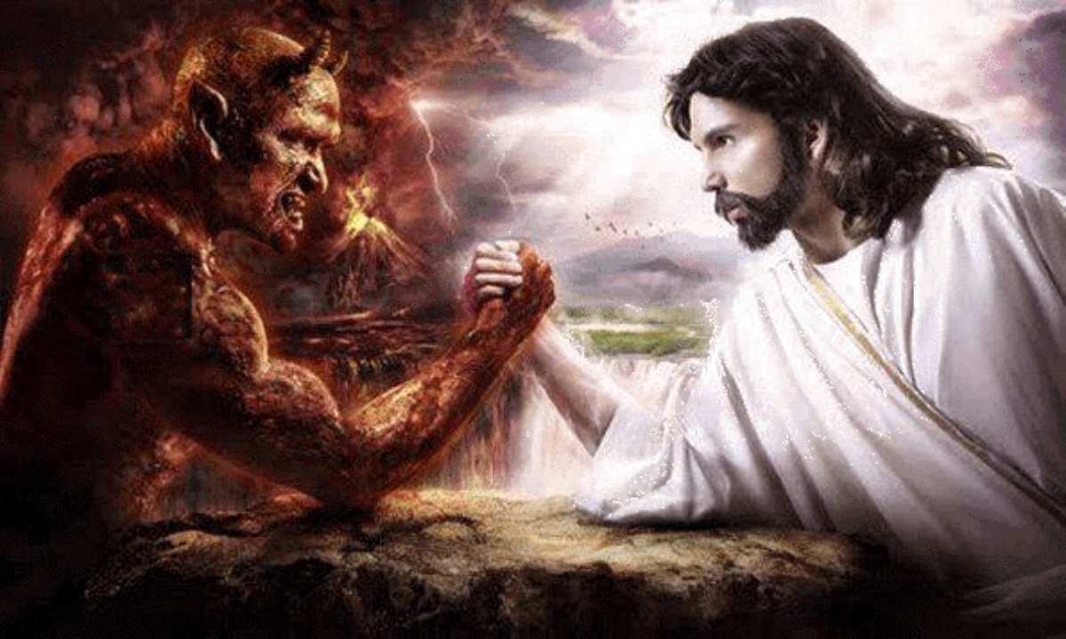 Risultato immagini per immagine del diavolo che tenta gesù