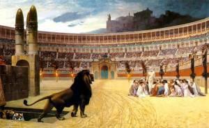 Persecuzione dei Cristiani Gerome_Christian_Martyrs  600  liv Last_Prayer