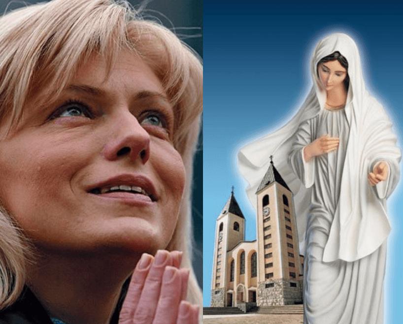 Medjugorje 02.03.2015, Apparizione Live della Vergine Maria a Mirjana alla Croce Blu.