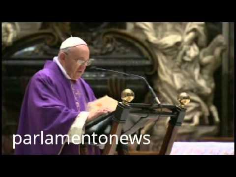 """Papa Francesco tira le orecchie ai politici italiani: """"i corrotti non saranno perdonati"""""""