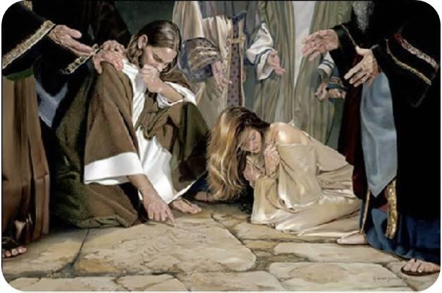 Cosa scriveva Gesù per terra quando gli venne portata la donna adultera?