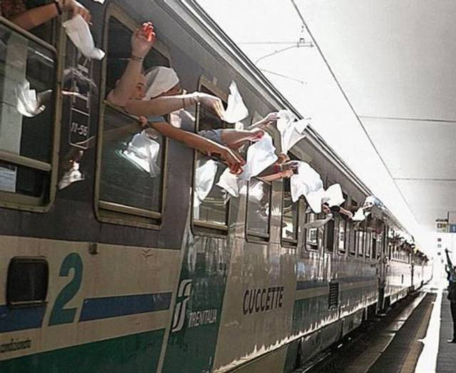 treno - pellegrini unitalsi