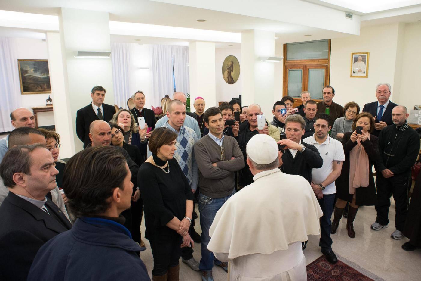 Foto LaPresse19/02/2014 RomaCronacaPapa Francesco incontra i detenuti delle carceri di Pisa e Pianosa