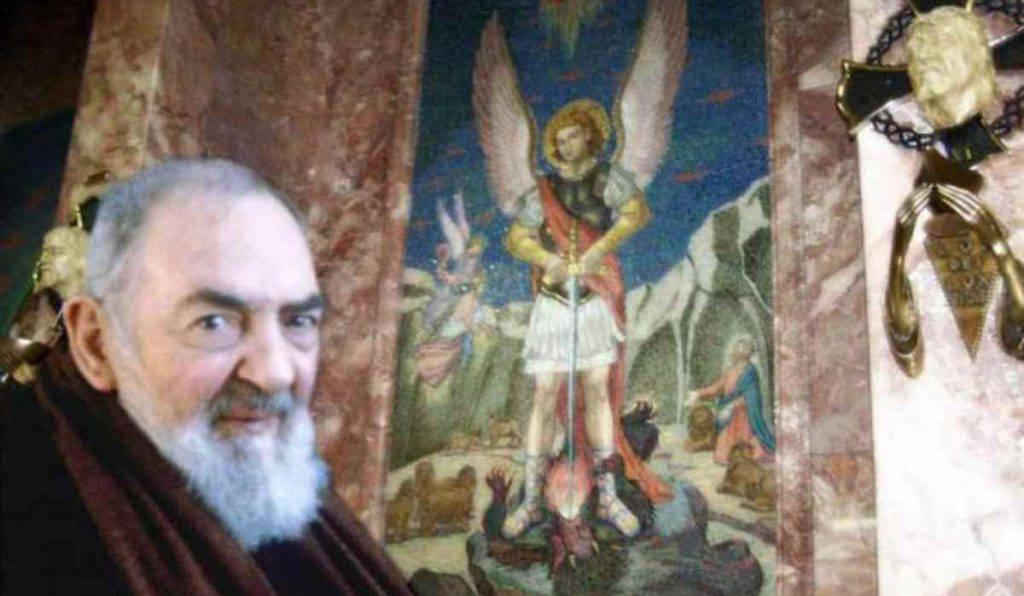 Padre Pio e angelo custode