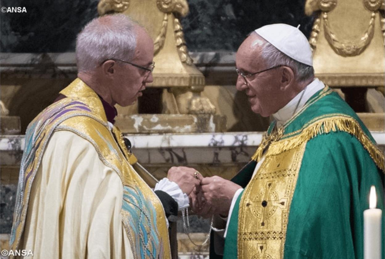 Papa a cattolici e anglicani: siate promotori di un ecumenismo audace e reale