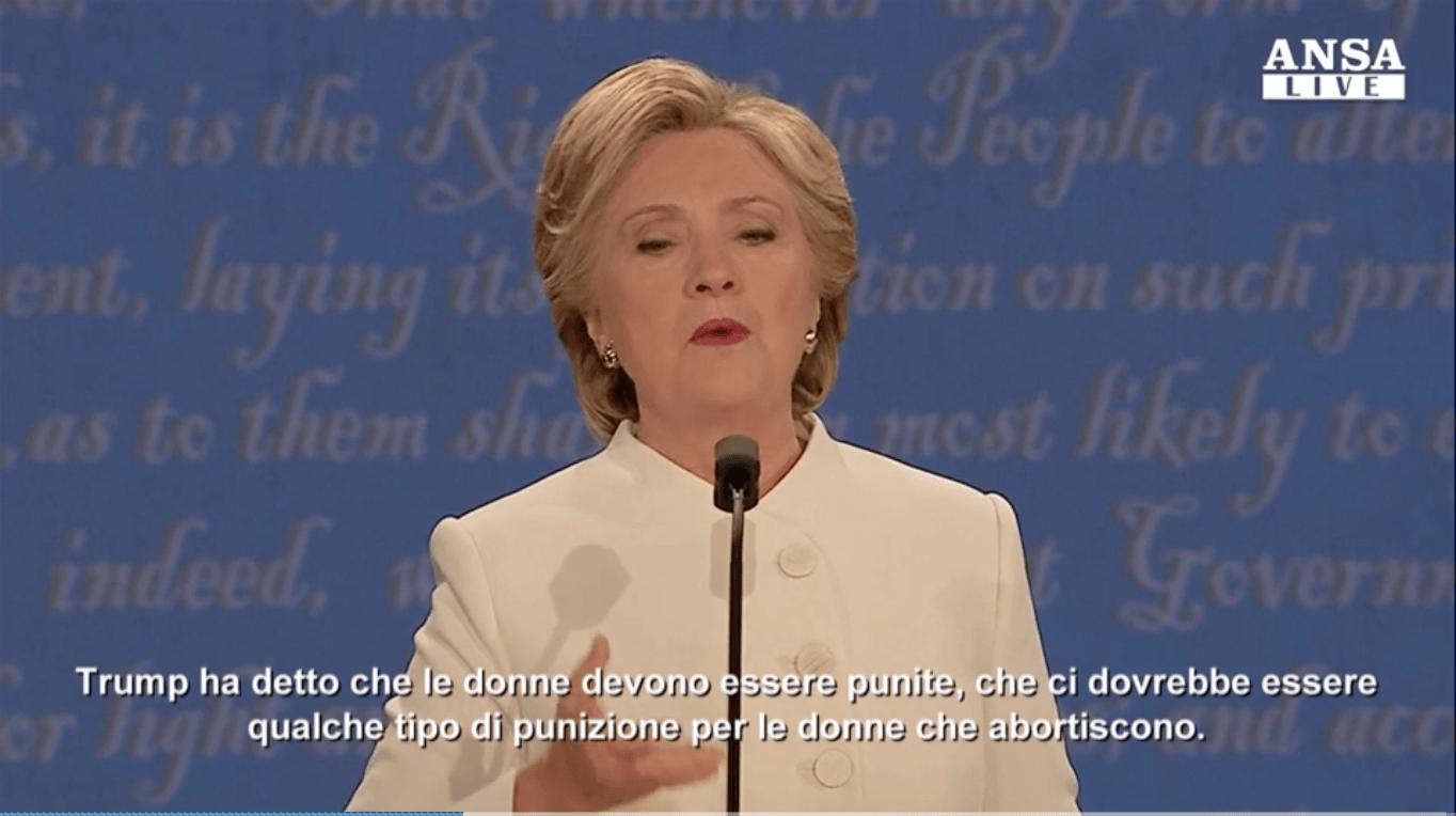 Ecco il Duello tra Hilary e Trump sull'Aborto!