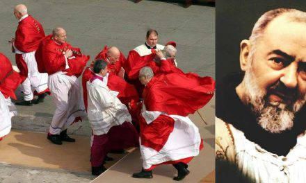 Padre Pio  ho visto il Papa in Paradiso