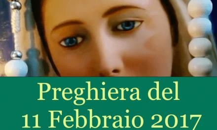 Preghiera quotidiana del 11 Febbraio 2017   La luce di Maria