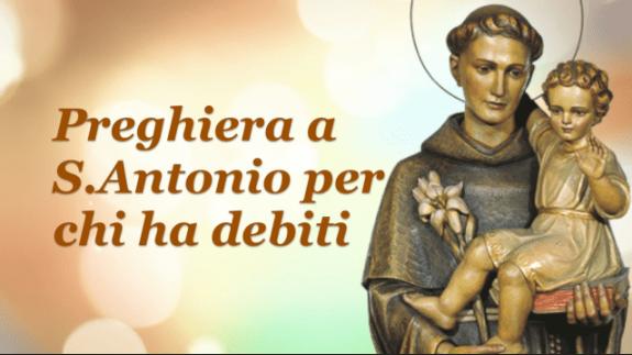 Preghiera a S.Antonio per chi ha debiti
