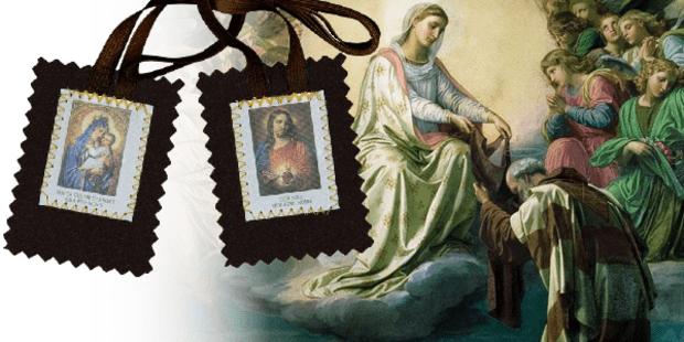 Il primo miracolo concesso al Priore Simone Stock per lo scapolare