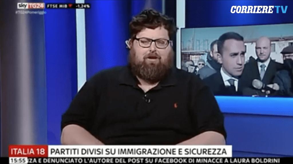 """Mario Adinolfi si sente discriminato per la sua """"stazza fisica"""" e Attacca i Giornalisti di Skytg24 in"""