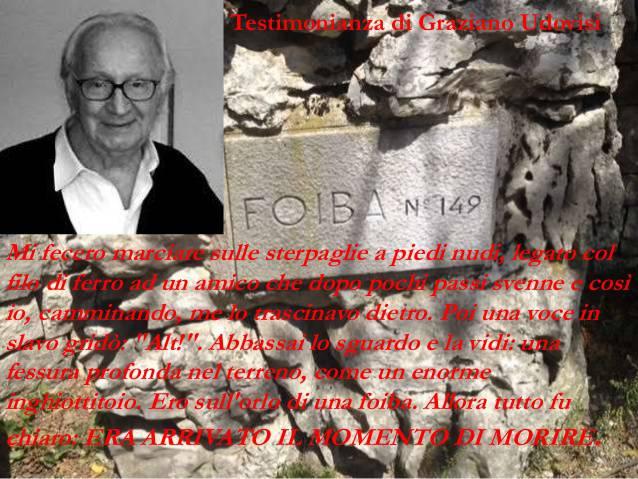 Il racconto di Graziano Udovisi, unico italiano a sopravvivere alle foibe