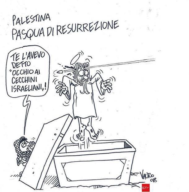 Vignetta shock per Pasqua: Cristo ucciso da colpo di fucile