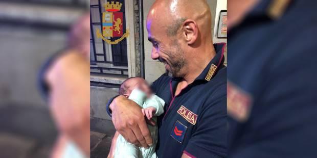 Brescia: bambino abbandonato viene salvato dall'agente Antonio