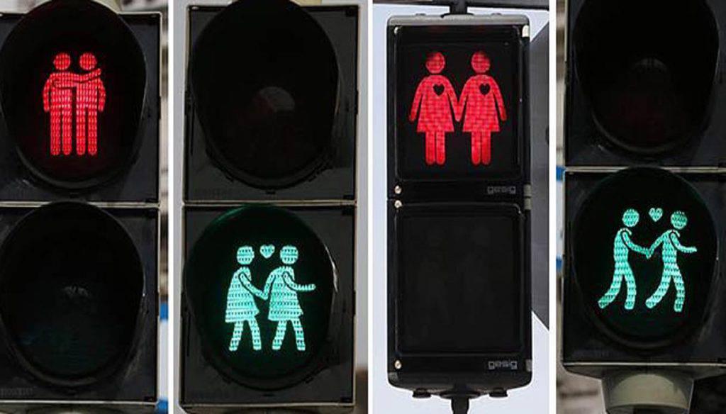 A Torino arriva il semaforo gay friendly con raffigurate le coppie Lgbt