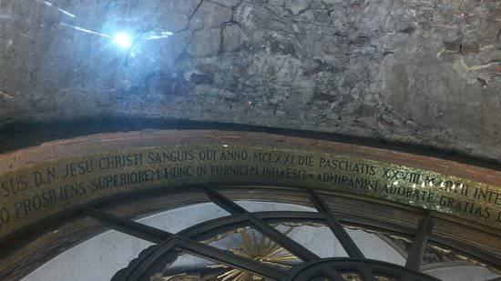 Ferrara: Sangue di Cristo sulle pareti della chiesa!
