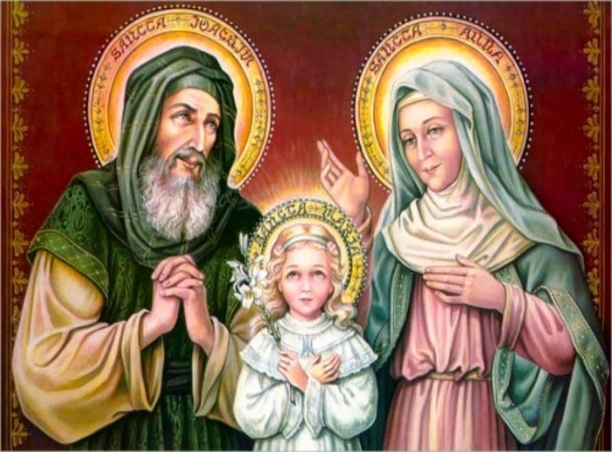 Oggi celebriamo i genitori di Maria: i Santi Anna e Giocacchino