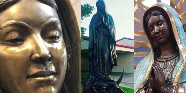La statua della Madonna di Guadalupe piange olio, miracolo o frode?