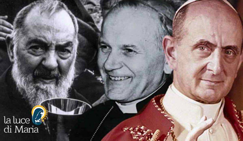 padre pio santo voluto da Giovanni Paolo II
