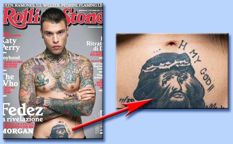 I tatuaggi satanici che dissacrano gesù