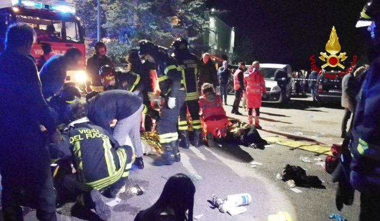 Tragedia alla Lanterna Azzurra di Corinaldo, confermata l'identità delle sei vittime