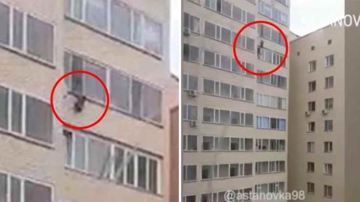 Un bimbo cade dalla finestra un angelo lo salva al volo - Bimbo gettato dalla finestra ...