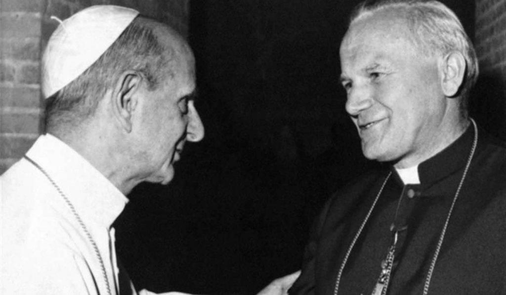 Paolo VI . Monsignor Wojtyla