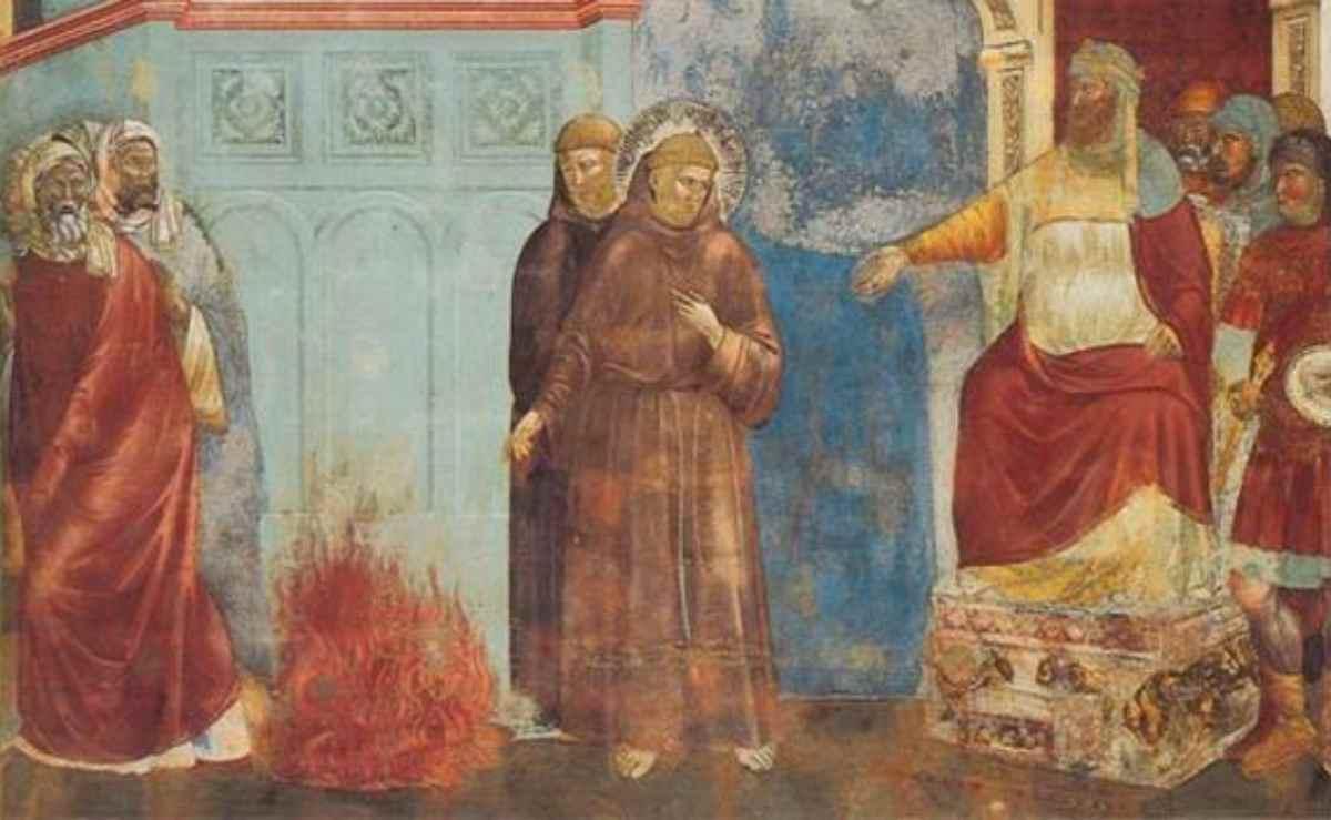 negli affreschi di Giotto dedicati a San Francesco