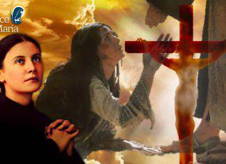 Santa Gemma Galgani come Gesù con La Maddalena