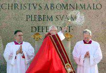 papa francesco domenica palme silenzio gesù