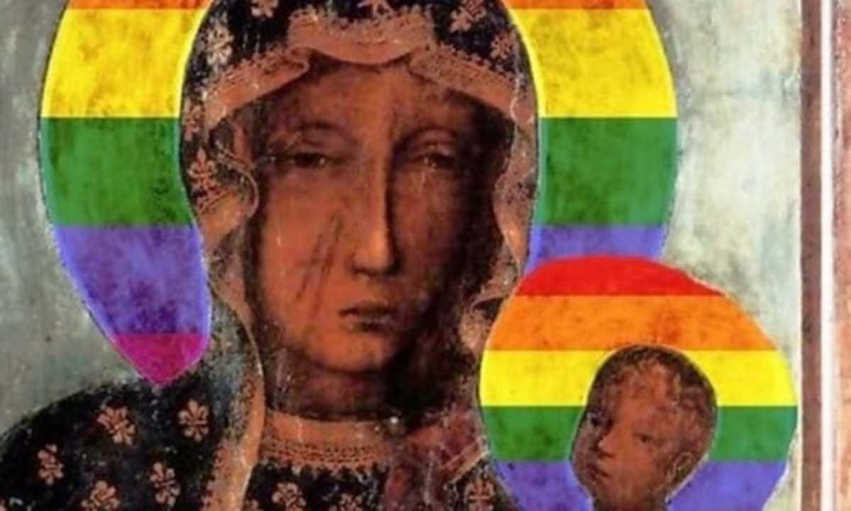 ha profanato un immagine della Madonna