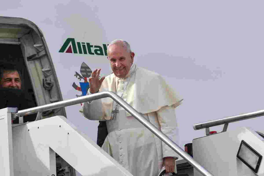 partenza papa francesco