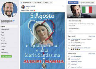 Matteo Salvini Rosario Vergine Maria