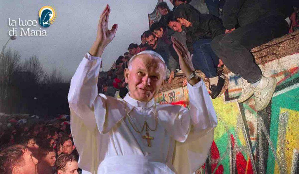 Muro Berlino preghiera Giovanni Paolo II