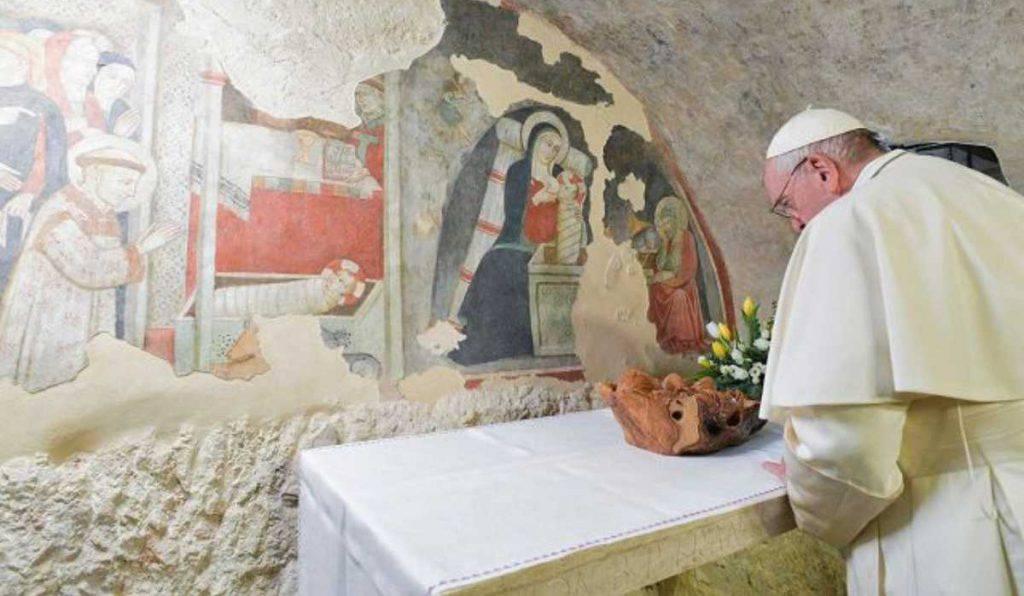 papa francesco greccio