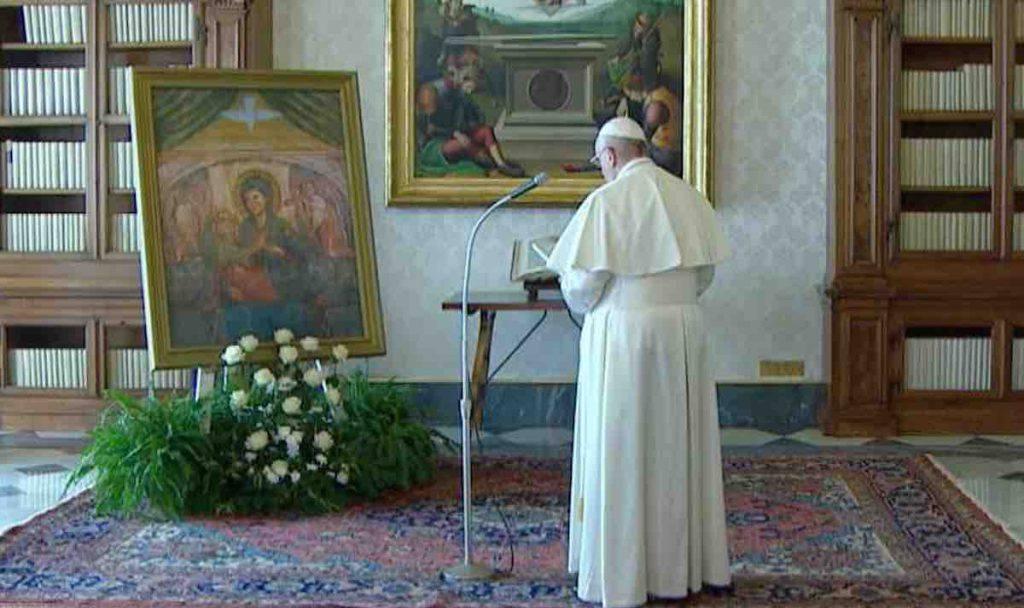 Papa Francesco Supplica Madonna Divino Amore