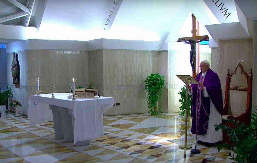 Papa Santa Marta 15 Marzo 2020