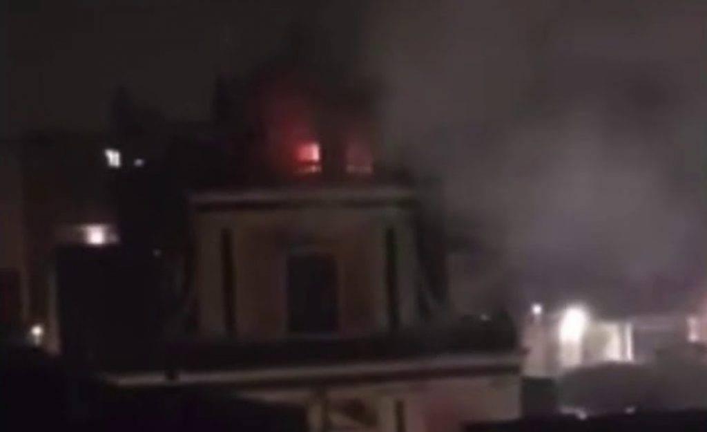 Incendio causa fulmine alla chiesa diSan Vito a Mascaluscia
