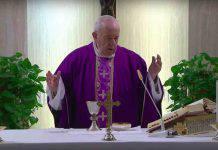 Papa Francesco Messa e Adorazione Santa Marta 1 Aprile 2020