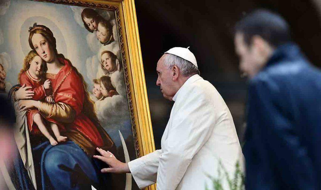 Papa Francesco Vergine Maria