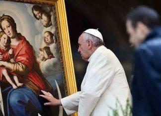 Papa Francesco Vergine Maria - Coronavirus
