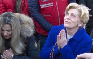 La veggente Mirjana di Medjugorje alla Croce Blu