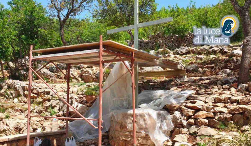 Croce Blu a Medjugorje: lavori in corso