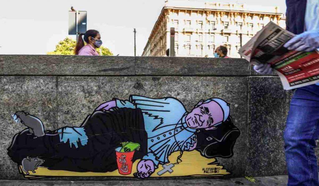papa murales milano