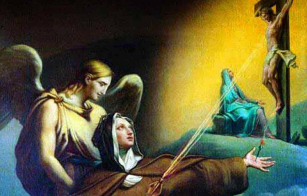 Santa Veronica Giuliani riceve le piaghe della Passione di Cristo