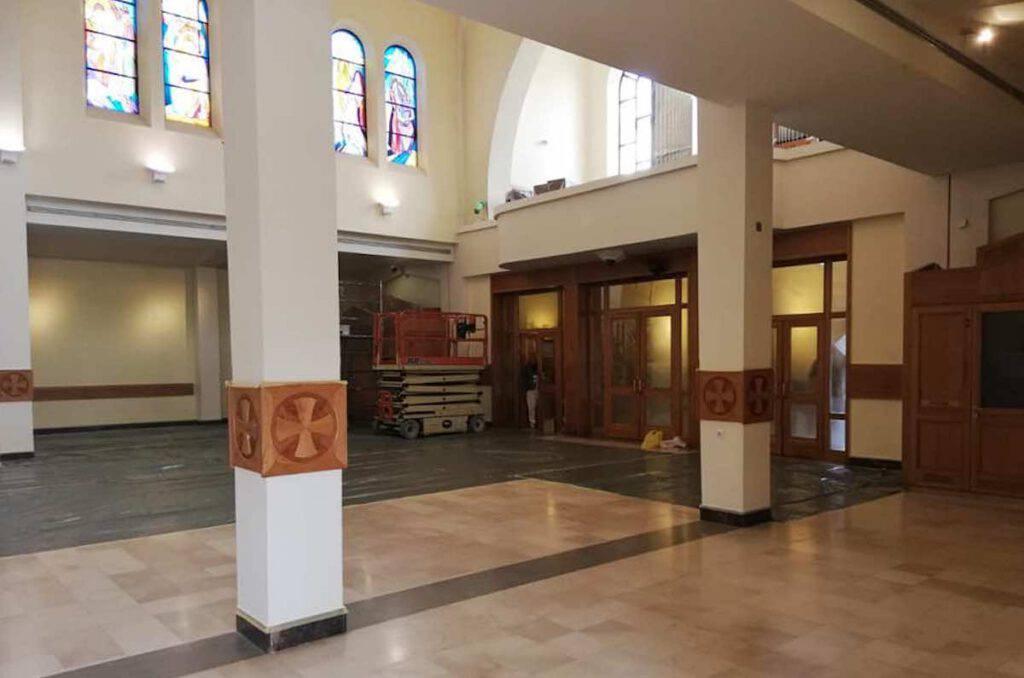 Lavori interni nella parrocchia di Medjugorje
