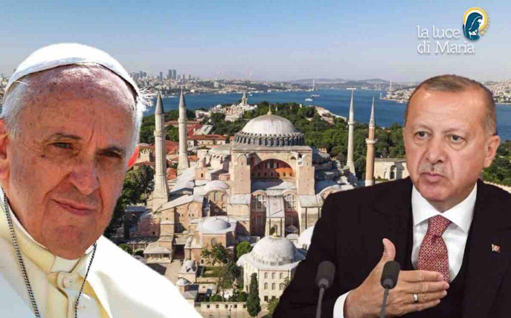 Papa Francesco - Erdogan - Santa Sofia