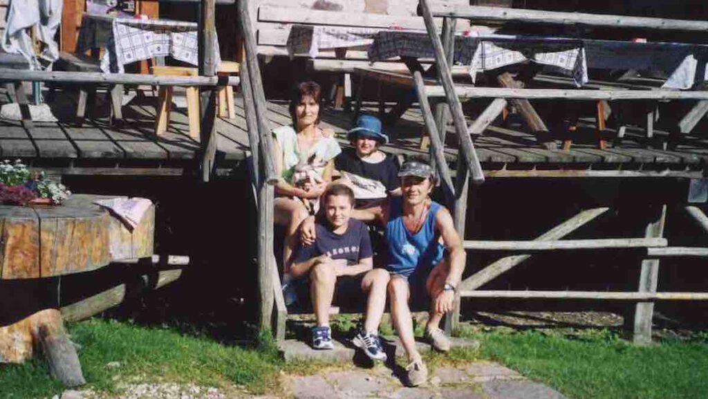 Famiglia Restori durante la malattia di Eleonora