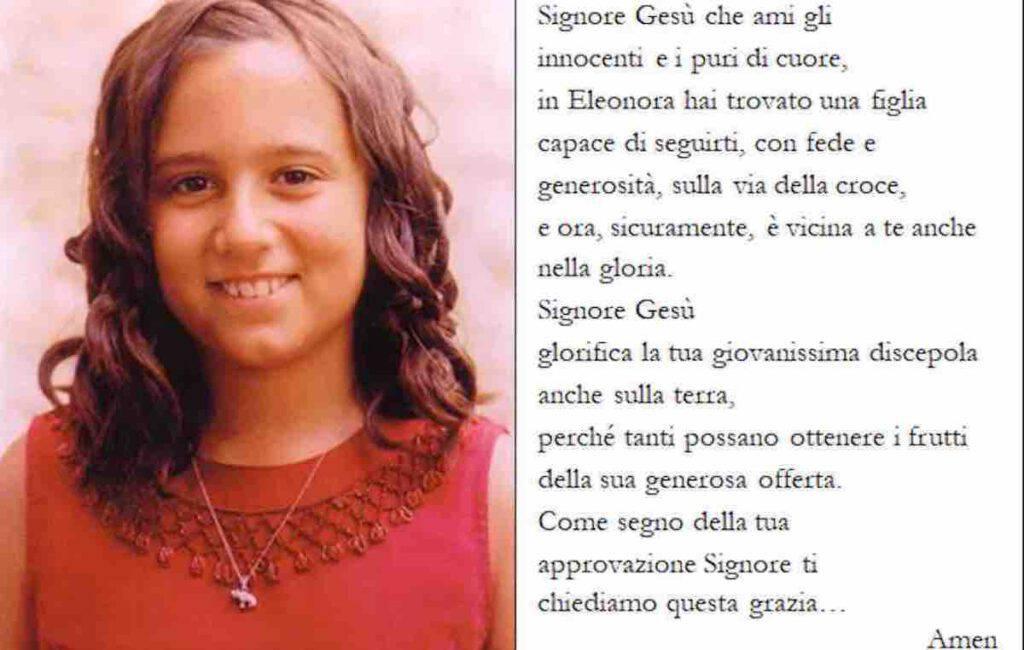 La preghiera d'intercessione a Eleonora Restori
