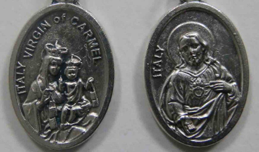 medaglia scapolare Vergine del Carmelo